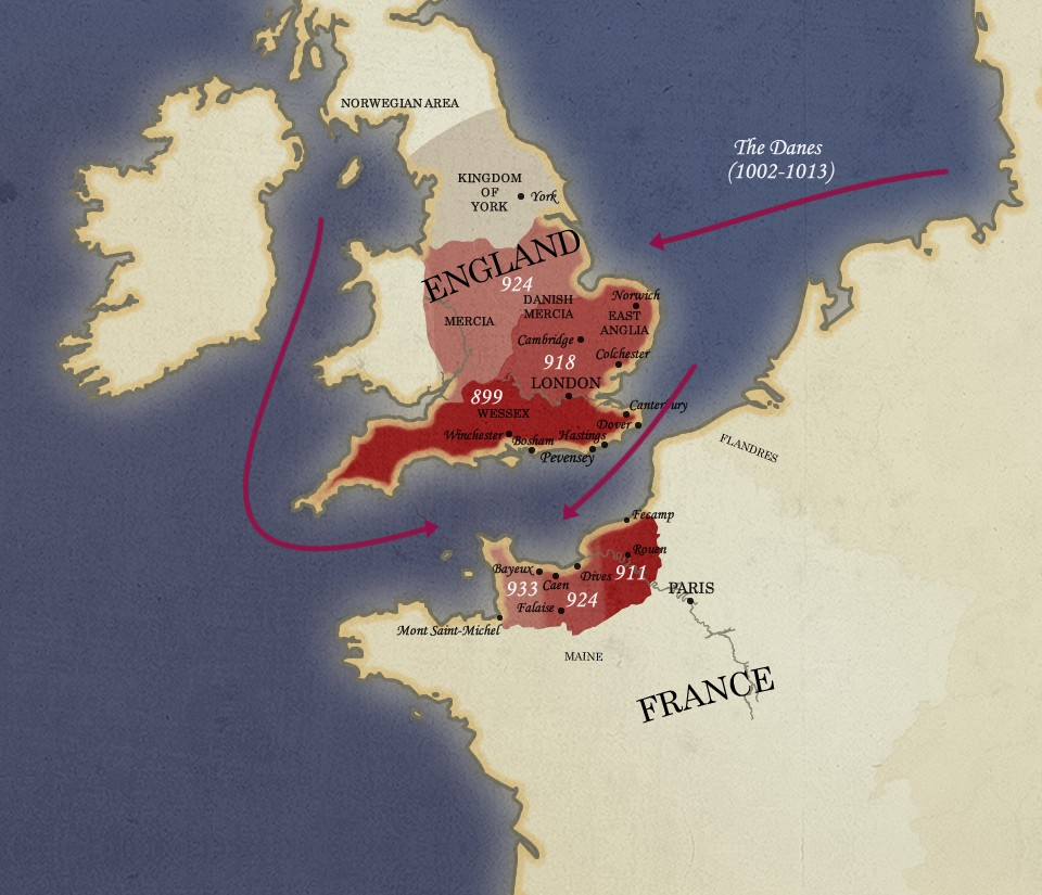 Map Of England King Alfred.Map Of The Anglo Norman World Norman Connections Discover Norman